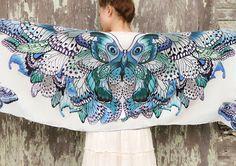 Райские птицы — красивые идеи  оформления шарфов!