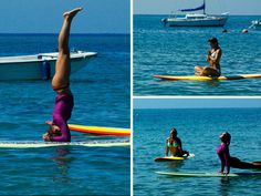 Next greatest thing! Yoga on a stand up paddle board. Love it!