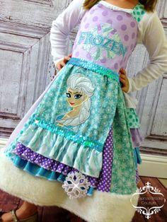 Frozen Elsa Custom Dress by mckenziebrookebow on Etsy, $270.00