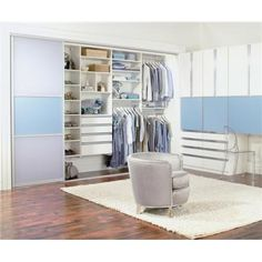 "DL's Closet-Coaching Note: ""What closet style type do you prefer? Clean lines and contemporary furnishings? Hello, Modern Style Type! What does your style say about your lifestyle preferences?"