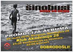 Beogradska koncertna promocija novog albuma Šinobusa pod nazivom Nebo od skaja biće održana u Klubu Akademija 28 (Nemanjina 28) u petak 28. ...
