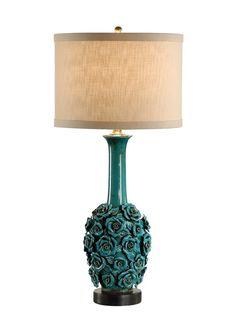 """FineHomeLamps.com - Robust Roses Blue Porcelain Table Lamp -  30"""", $379.50 (http://www.finehomelamps.com/robust-roses-porcelain-table-lamp.html)"""