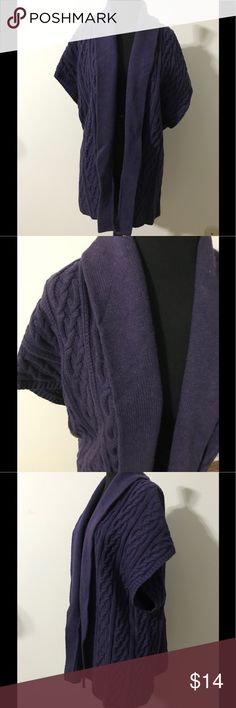 Lands' End Purple Sleeveless Sweater Size 1X Sleeveless purple sweater size 1X 16W-18W. Made of 60% lammwolle, 20% baumwolle, and 20% nylon. Sweater length is 31 inches. Lands' End Sweaters