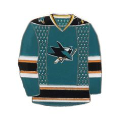 cad7d5af1b0 NHL Team Colour Jersey Lapel Pin San Jose Sharks Jersey, Hockey Hall Of Fame ,