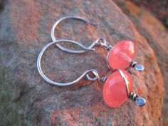 Faceted+Cherry+Quartz+Sterling+Silver+Earrings+by+StonePeace,+$24.00