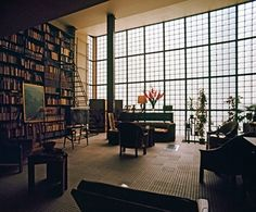 An apartment that glows.....brilliant. The square root...Pierre Yovanovitch designed study of Maison de Verre in Paris