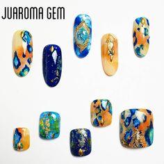 337 個讚,36 則留言 - Instagram 上的 つづみ【Juaroma-Gem】(@tsuzumi.gem):「 夏にしか出来ないこんな激しいアート フットとお揃いでいかが?♥ #nail #nailart #naildesign #gel #gelart #art #beautiful #vetro… 」 Creative Nail Designs, Creative Nails, Nail Art Designs, Diva Nails, Chic Nails, Mani Pedi, Pedicure, Seashell Nails, Feet Nails