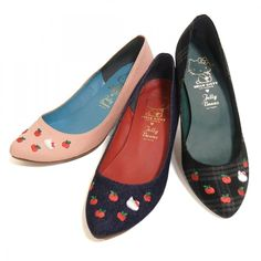 Hello Kitty x JELLY BEANS Shoes Pumps Low Heel  Sanrio Made in Japan T3572