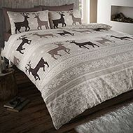 Helsinki Flannelette Taupe Stag King Quilt Duvet Cover and 2 Pillowcase Brushed Cotton Bedding Bed Set, Brown King Size Duvet Sets, King Duvet Cover Sets, Double Duvet Covers, Single Duvet Cover, Quilt Cover Sets, Pillow Covers, Brushed Cotton Bedding, Cotton Duvet, Taupe