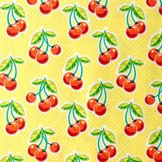 Waverley Inspirations CHERRIES Fabric - Yellow