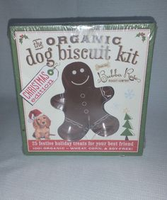 Organic Dog Gingerbread Biscuit Kit Christmas Edition Bubba Rose Biscuit Co -NIB #BrandCiderMillPress