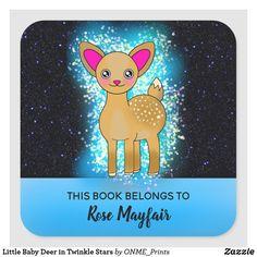 Little Baby Deer in Twinkle Stars Square Sticker #Onmeprints #Zazzle #Zazzlemade #Zazzlestore #Zazzlestyle #Little #Baby #Deer #Twinkle #Stars #Square #Sticker Twinkle Star, Twinkle Twinkle, Night Sky Stars, Baby Deer, Happy Fun, Kawaii Cute, Unique Baby, Book Gifts, School Fun