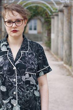 Carolyn pajamas turned into a dress (pattern by Closet Case Patterns)