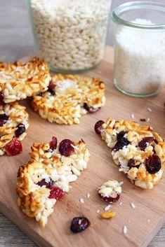Galette riz soufflé coco & cranberries - Bonjour Darling