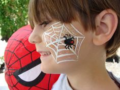 Spider Web Face Painting