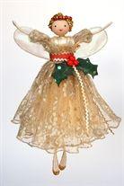 Vintage Holly Tree Top Fairy ~ Christmas Tree Decorations UK   Christmas Fairies UK