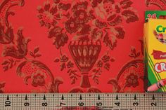 1960's Vintage Wallpaper Dark Red and Gold by RosiesWallpaper