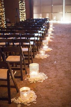 30 Romantic Indoor Barn Wedding Decor Ideas with Lights | http://www.deerpearlflowers.com/30-romantic-indoor-barn-wedding-decor-ideas-with-lights/