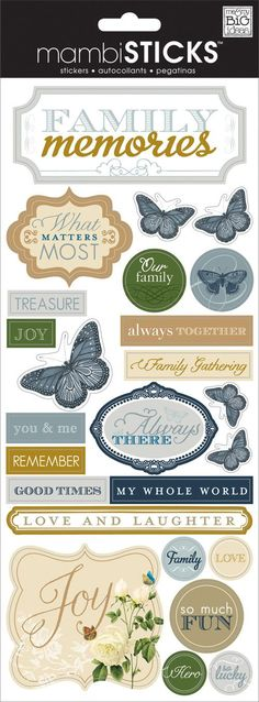 """Everyone loves stickers! They are so easy to use and add personality and design to any project. Just peel, stick and you're done! Each package contains a 5"""" x 12"""" sticker sheet. Item #: SP-292"""