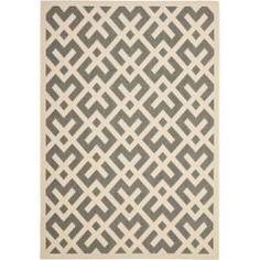 Poolside Grey/ Bone Indoor Outdoor Rug (4' x 5'7) | Overstock.com Shopping - Great Deals on Safavieh 3x5 - 4x6 Rugs