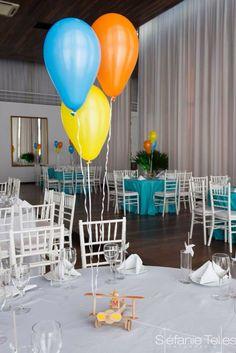 Aviator table details .:. Detalhes festa aviador menino mesa