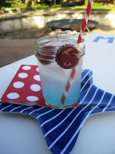 DIY drink charms for mason jars (put table numbers on them?)