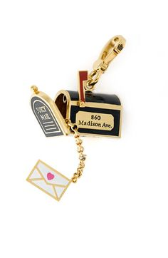 Juicy Couture Mailbox Charm -- so cute! I thought of you when I saw this, @Annie Compean Compean Jones!