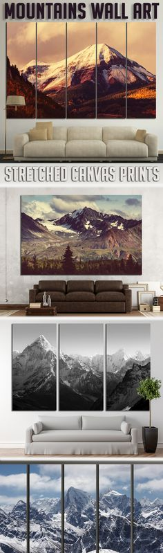 Extra large Scenic Mountains Wall Art for Home & Office decoration.
