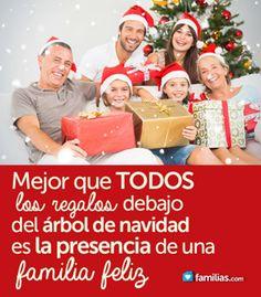 Imagenes de familia feliz con palabras familia es - Regalo navidad padre ...