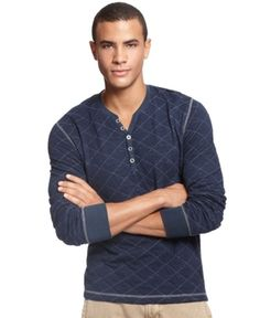 #Long Sleeve Y Neck Quilted #Shirt @Macy's $39.50