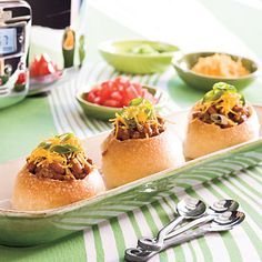 Serve chili in bread bowls instead of using paper plates. | 41 Tailgating Tips That Are Borderline Genius
