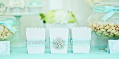 Tiffany Inspired Party   Popcorn Boxes