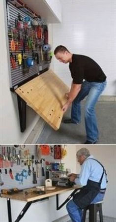 Top Garage Organization- CLICK THE PICTURE for Many Garage Storage Ideas. #garage #garagestorage #GarageOrganization #woodworking #WoodworkingHomeImprovements