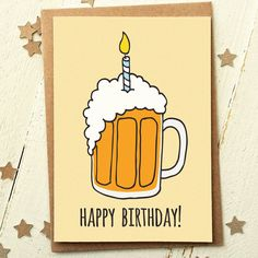 Funny Beer Happy Birthday Card                                                                                                                                                                                 More
