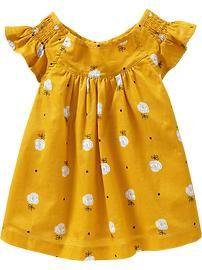 yellow flutter sleeve