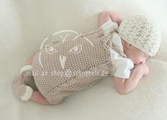 Babyausstattung gehäkelt, Babymütze, Babyschuhe crochet newborn set, hat, shoes