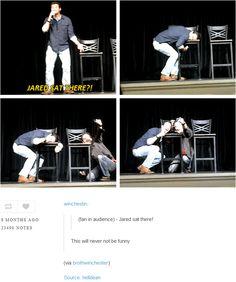 Matt Cohen and Richard Speight Jr. fangirling over where Jared sat. [GIF-SET] Nashville 2011.