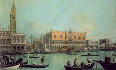 Canaletto(Italy): Palazzo Ducale and the Piazza di San Marco