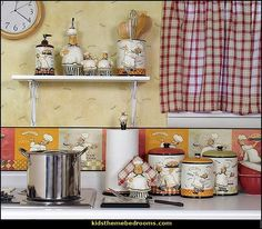 Fat Chef Italian Kitchen Canister Cannister Set French