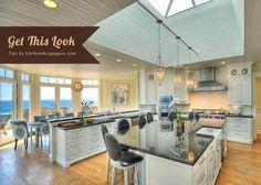 Get the Kitchen: Usher's Coastal Kitchen |Modern Beach Chic Kitchen #kitchen #modernkitchen