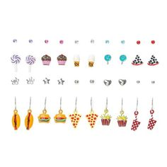20 pack Food earrings - Claire's