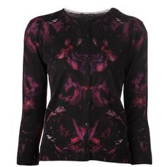 Alexander McQueen Printed Cardigan and other apparel, accessories and trends. Browse and shop related looks.