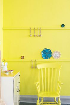 Trendy kitchen colors for walls ideas farrow ball Farrow Ball, Farrow And Ball Paint, Paint For Kitchen Walls, Kitchen Paint Colors, Paint Walls, Kitchen Wall Clocks, Yellow Interior, Palette, Yellow