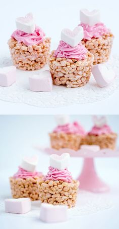 Marshmallow Crispy Cupcakes - a no-bake easy recipe the kids will love help making