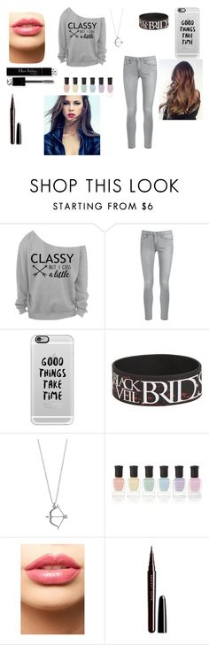 """""""Untitled #44"""" by iceskates4 ❤ liked on Polyvore featuring Frame Denim, Casetify, Deborah Lippmann, LASplash, Christian Dior and Marc Jacobs"""