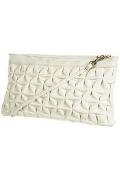 pinched leather clutch // topshop