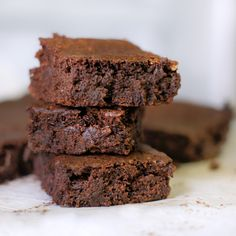 Grain-Free Fudgy Brownies. Unbelievably moist and fudgy, these rich, chocolate treats are the perfect way to use up your leftover almond pulp!