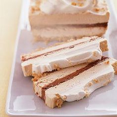 Chocolate & Peanut Butter Ribbon Dessert Recipe from our friends at Philadelphia Cream Cheese