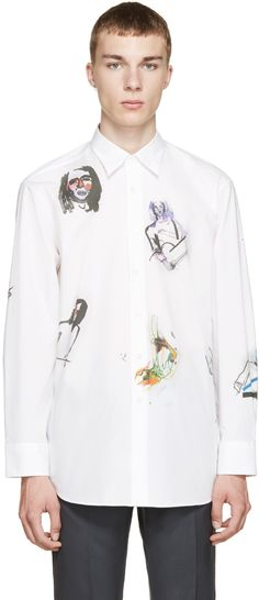 Raf Simons - White Illustrated Shirt