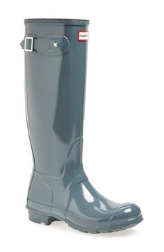 Hunter Original High Gloss Boot (Women) | Nordstrom.  Color: Graphite Gloss.     Size 6.     #boots